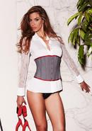 Suit Inspired Cincher Grey L