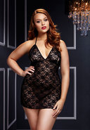 Black Lace Babydoll 1 Pc- Queen