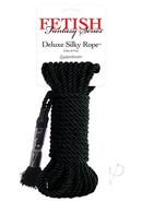 Festish Fantasy Series Deluxe Silk Rope Black 32 Feet
