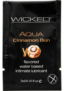 Wicked Aqua Water Based Lube Cinnamon Bun Flavored And...