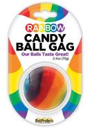 Rainbow Candy Ball Gag Assorted Flavor Assorted Color