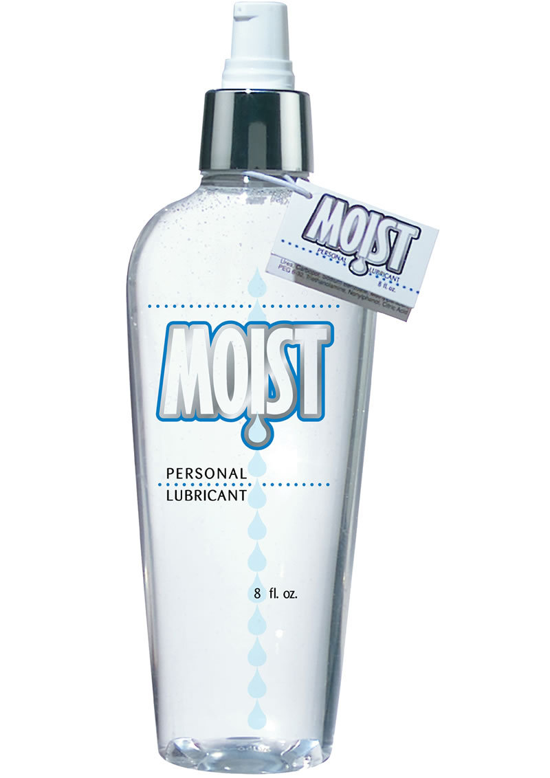 Moist Personal Water Based Lubricant 8 Ounce Pump