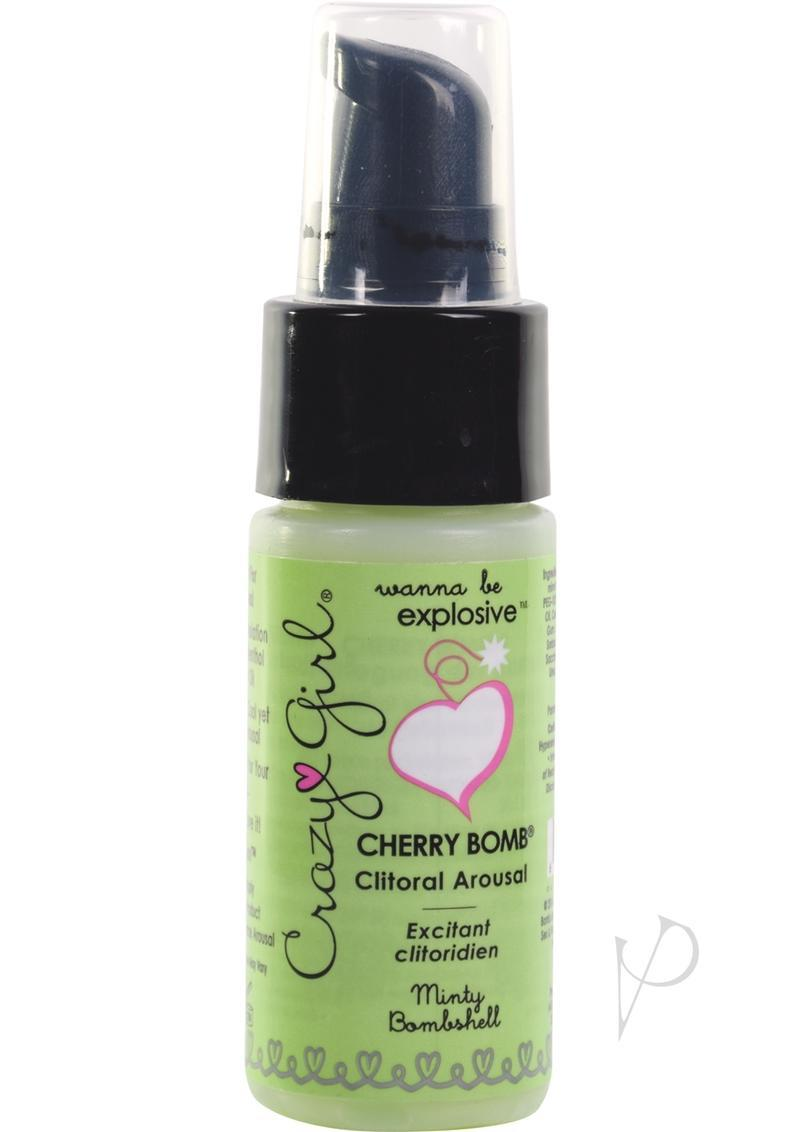 Crazy Girl Cherry Bomb Clitoral Arousal Cream Minty Bombshell 1 Ounce