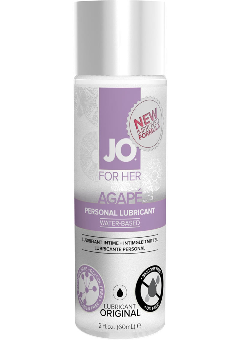 Jo For Her Agape Water Based Personal Lubricant 2 Ounce
