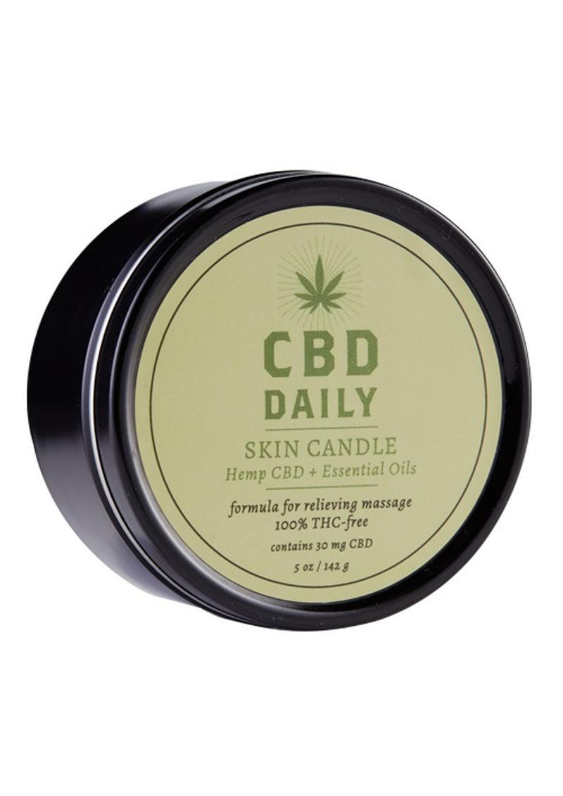 Cbd Daily Skin Candle Hemp Cbd And Essential Oils 100% Vegan 5.3 Ounce