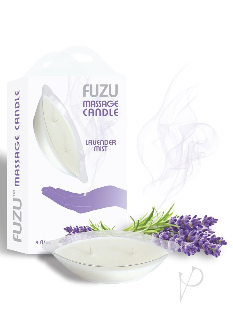 Fuzu Massage Candle Lavender Mist Vegan Friendly 4 Ounce