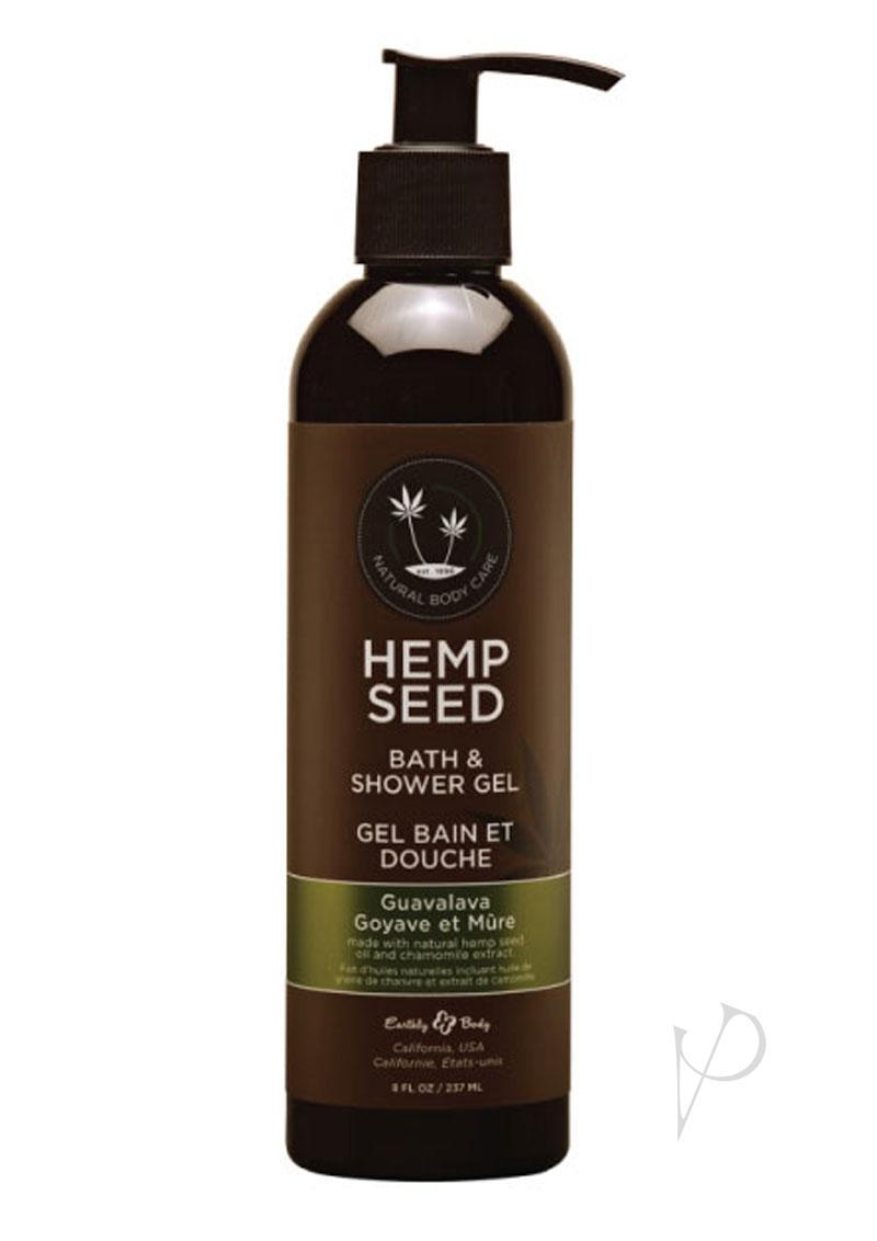 Hemp Seed Bath And Shower Gel Guavalava 8 Ounce